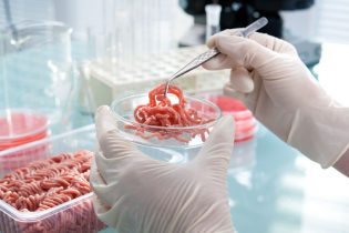 36370814 - food quality control expert inspecting at meat specimen in the laboratory