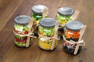 37449218 - homemade healthy salad in glass jar