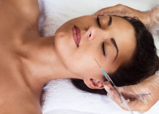 47767022 - beautiful woman gets injections. cosmetology. beauty face